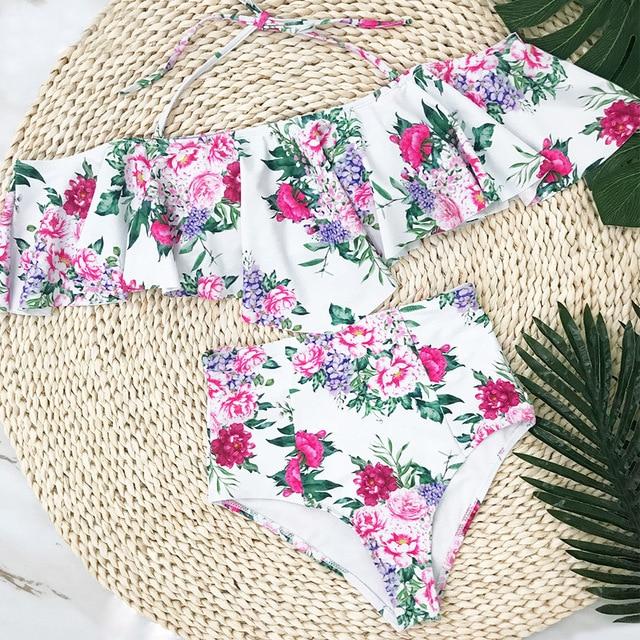 Bikinis cintura alta y baja estampados 4