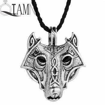 Ожерелье QIAMNI, винтажное, панк, славянское, валкнут, Викинг-Волк, птицы, топор, Круглый, языческий амулет, готическое, с подвеской