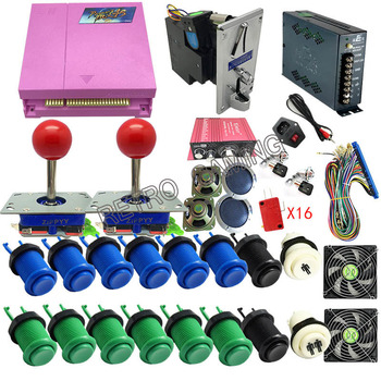 Pandora Box 4S+ Plus 815 in 1 DIY Arcade Bundles Kits Parts With Power Supply Jamma Harness Joystick Push Button Coin Selector