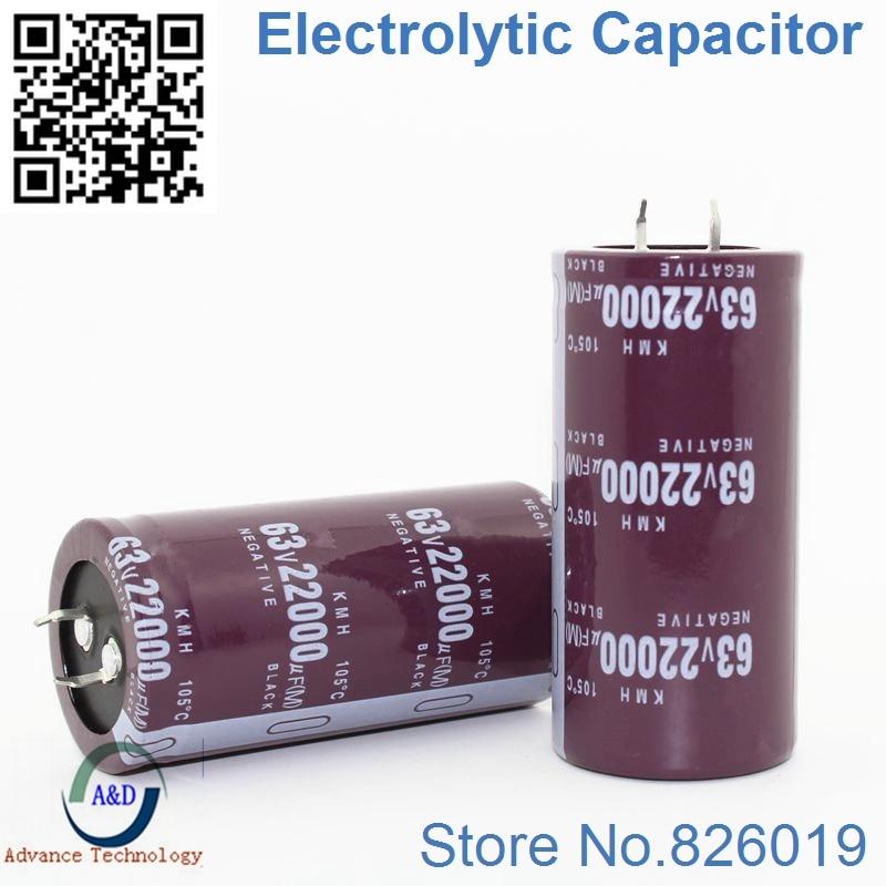 1pcs/lot 63V 22000UF Radial DIP Aluminum Electrolytic Capacitors size 35*70 22000UF 63V Tolerance 20%