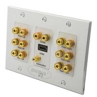 Aluminum Home Theater 7.1 Surround Sound Speaker sound box Wall Plate + HDMI + Audio Banana