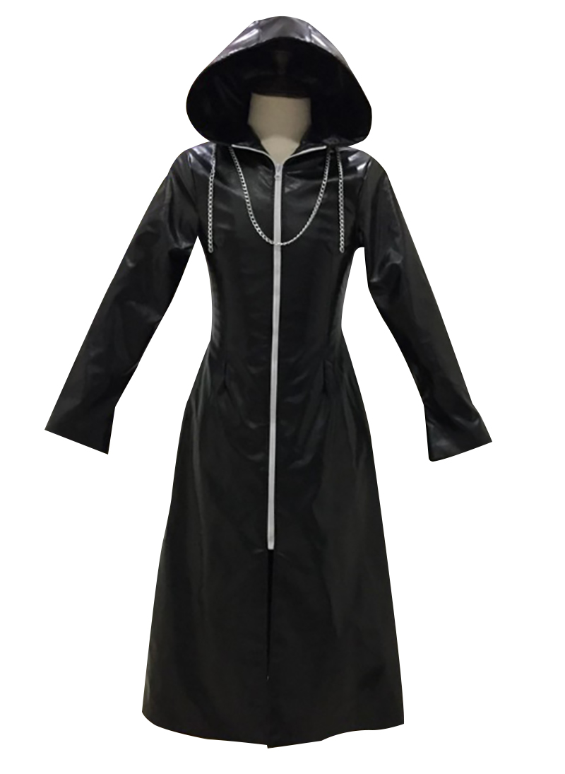 Kingdom Hearts Cosplay Roxas Cosplay Costume Faux Leather Cloak