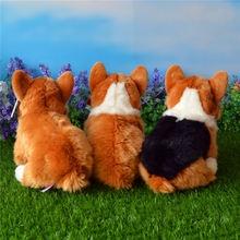 Free Shipping 25CM Welsh Corgi Pembroke Plush Toys Simulation Corgis Stuffed Toy Puppy Dog Plush Dolls Gifts For Kids