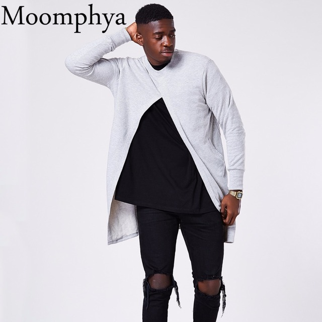 Moomphya 2017 New Autumn/Winter Opening Long Slit Men hoodies ...
