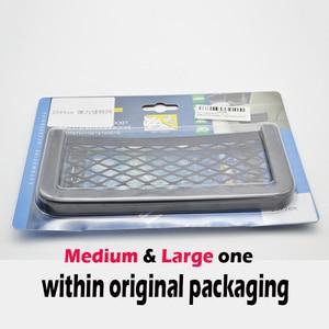 Image 5 - 3 Sizes Car Net Organizer Pockets Car Storage 20*9CM/17*8 CM/14*8CM For Tools Mobile Phone Seat Side Net Automotive Bag Black