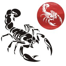 1 Piece 30cm Cute 3D Scorpion Car Stickers car styling vinyl decal sticker for Cars Acessories decoration QC29(China)