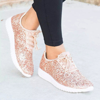 Fashion Gold Silver Shoes Women Glitter Sneakers Summer Bling White Sneakers Lace up Shoes For Women Casual Shoes Tenis
