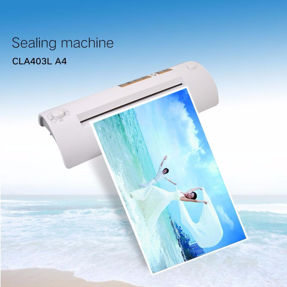 Cewaal New design A4 Photo Laminator Document Hot&Cold Thermal Laminating Machine Laminator office Plastifieuse Termolaminar a3 a4 cold roll laminator laminating machine 4 roller system photo laminator lk4 320 220v 300w cold laminator