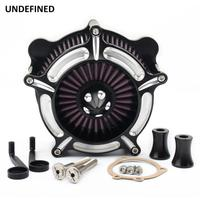 For Harley Softail Dyna Touring Road Glide 1993 2007 Air Filter Motorcycle Turbine Spike Intake Air Cleaner Filter System