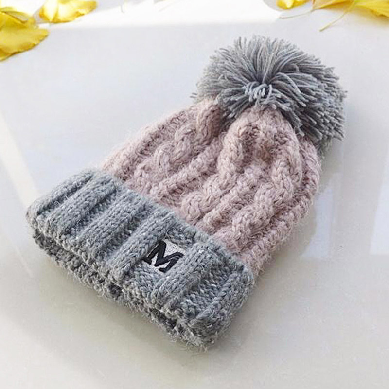 Winter Hat For Girls 5~10 Year Old Kids Boys Children Wool Pom Poms Hat Knitted   Beanies   Cap Hat Thick   Skullies     Beanies