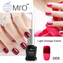 MRO Light changeable gel nail polish set uv gel lucky nail glue unhas de gel nail lacquers change color vernis a ongle varnish