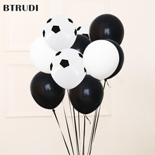BTRUDI soccer balloon 12inch white and black color kids toys football baby shower decoration party supplies