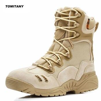 168924483c504 Erkekler Trekking Açık Ayakkabı Dağ Tırmanışı Avcılık Spor Ayakkabı Mesns  Askeri Taktik Savaş Çöl Botları Adam Yürüyüş Ayakkabısı