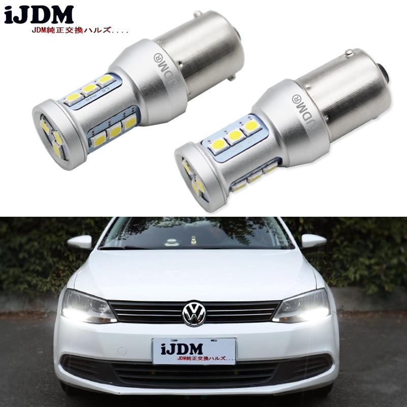 IJDM CANbus без ошибок, 1200 люменов, HID Белый 1156 7506 S25 светодиодный лампы для Volkswagen MK6 Jetta, дневные ходовые огни, 6000K 12 В