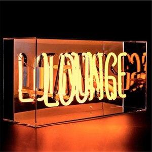 Image 3 - Vintage LOUNGE witamy neon Night Light prawdziwe szkło Tube rzemieślnicze na piwo do baru lampa Pub rekreacja Decor AC 220V 230V