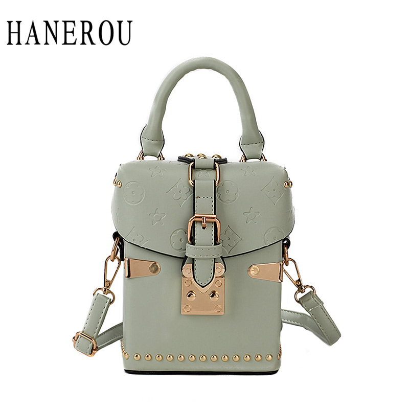 HANEROU Crossbody Bags For Women Handbags Luxury Handbag Bags Designer Rivet Box Vintage Shoulder Bag Sac A Main Evening BagHANEROU Crossbody Bags For Women Handbags Luxury Handbag Bags Designer Rivet Box Vintage Shoulder Bag Sac A Main Evening Bag