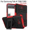 Case For Samsung Galaxy Tab A A6 7.0 дюймов 2016 T280 T285 крышка Планшета ТПУ & PC Броня Гибридный Броня Kickstand Dazzle Случаи Funda