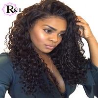 RULINDA Bouclés Avant de Lacet Perruques de Cheveux Humains Avec Bébé Cheveux brésilienne Remy Cheveux Sans Colle Dentelle Perruques Pour Femmes Pré-Plumées 8-24 pouces