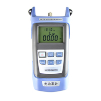 Handheld Optical Power Meter,SC/FC/ST Connector Fiber Optic Cable Tester with 6 wavelengths 800~1700nm