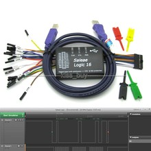 USB Logic 100 MHz 16Ch Logic Analyzer dla ARM FPGA