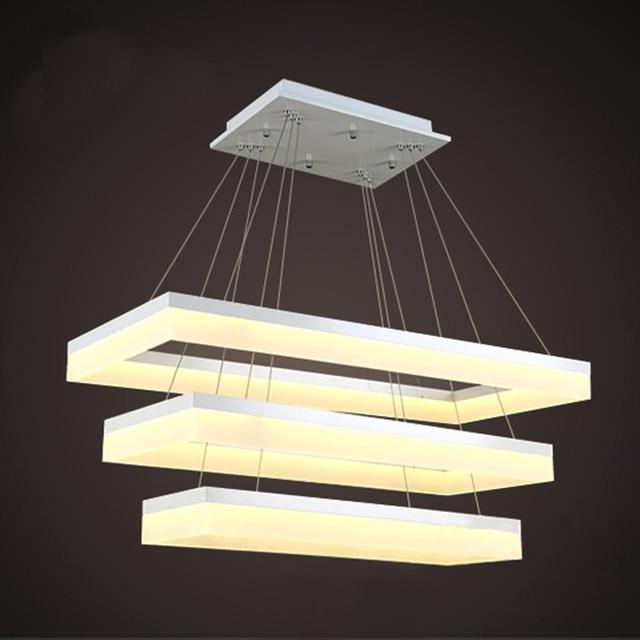 For Restaurant Foyer Bedroom Dinning Living Room Modern Pc Plastic Tom Dixon Lustre Shade Square Pendant Lamp