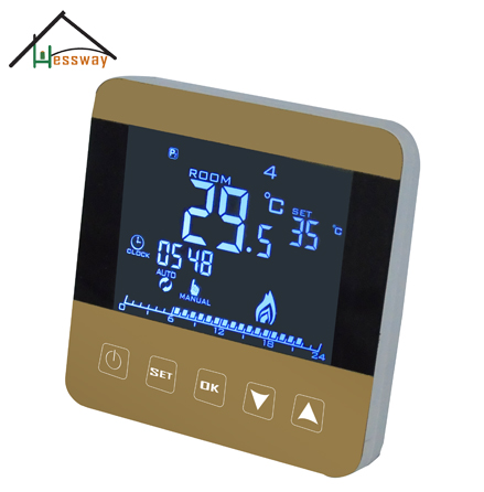 EU DIY Programmable heating thermostat temperature controller with Child lock краска tury ice sw 5 2 4кг супербелая