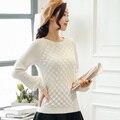 100% кашемировые свитера и пуловеры для женщин 2016 зима Новый o шею свитер топы Горячей Продажи чистой шерсти трикотажные одежда свободный корабль