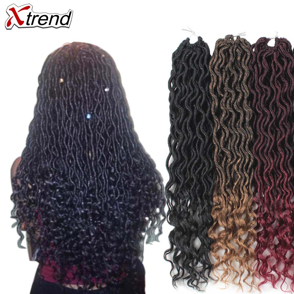 xtrend crochet braid curly hair synthetic braids faux locs. Black Bedroom Furniture Sets. Home Design Ideas