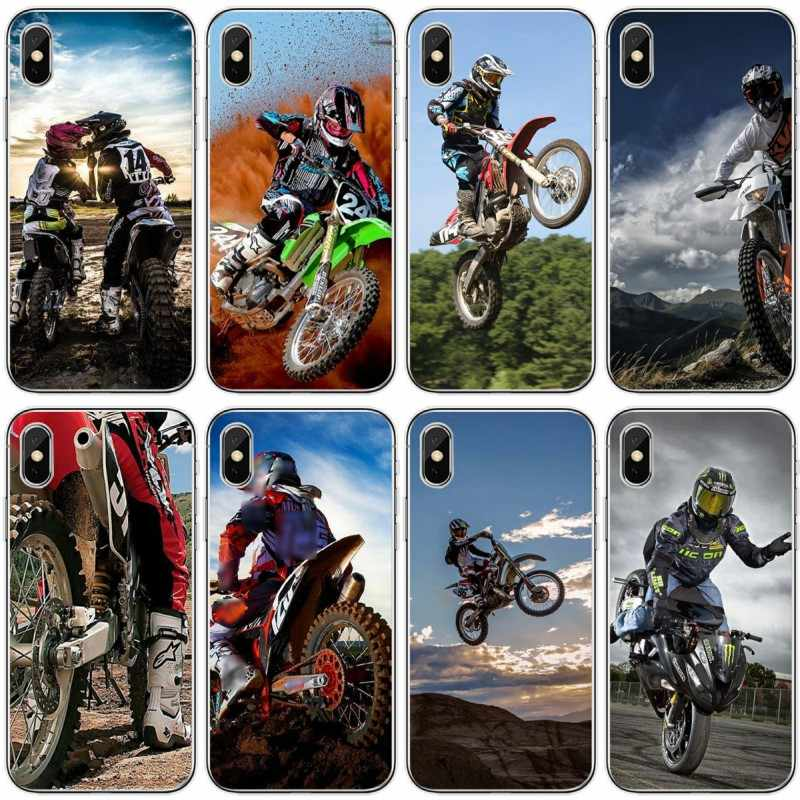 Moto cross moto cross dirtbikes Macio Caso de Telefone Silicone Para iPhone 6 6 além de 7 8 plus 5 5S 5C SE Para o iphone X XS XR XS Max