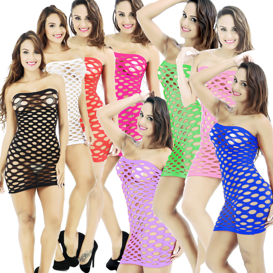 Fishnet Underwear Elasticity Cotton Lenceria Sexy Lingerie Hot Mesh Baby Doll Dress Erotic Lingerie For Women Sex Costumes in Babydolls Chemises from Novelty Special Use