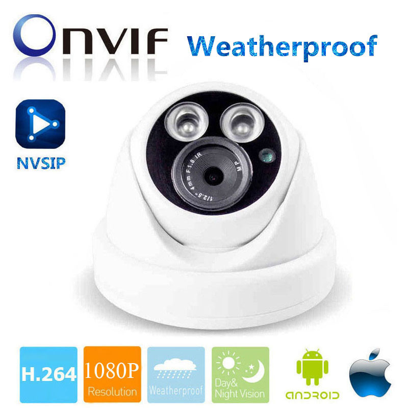 Full HD 1080P IP Dome security Surveillance CCTV IP Camera IR Night Vision ONVIF Waterproof Network Outdoor Cam P2P Phone View