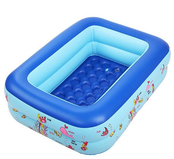 110*90*35 Kids Swimming Pool Inflatable Square Bathtub Child ...