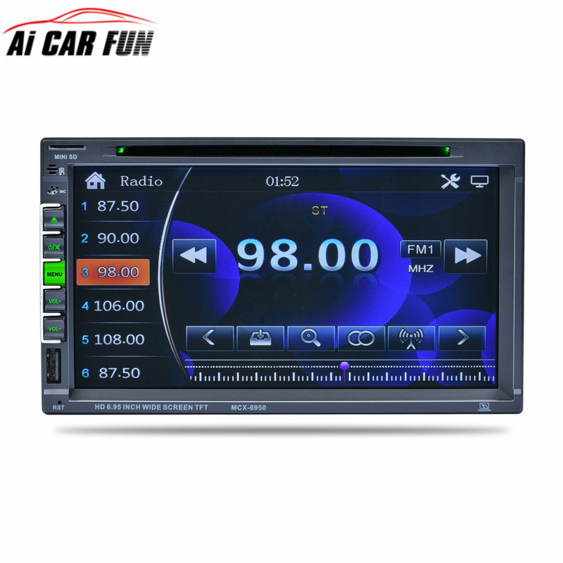 6950 Car DVD Player Stereo Bluetooth Auto Radio Double Din Car-DVD In-dash Stereo Video with Microphone TFT Touch Screen Player видеодиски нд плэй экстрасенсы dvd video dvd box