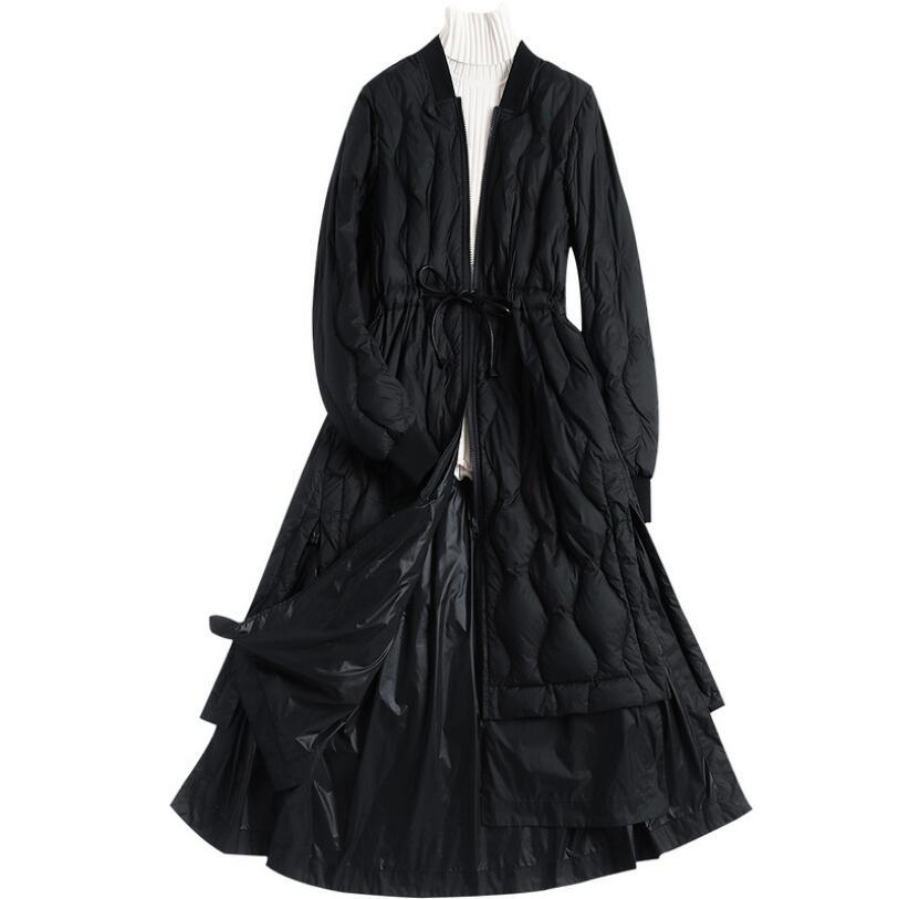 Noir Down Femme Long Bleu De 90 Femmes Parka Manteau Veste Jackewinter Chaud Matelassée Canard marine Duvet OqPRa