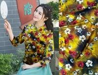 Tela estampada satin fabrics textile tissus printed tissu mariage silk fabric for dress stretch fabric japanese tissu au metre