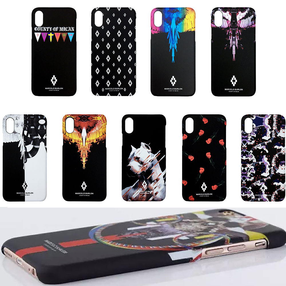 TOP Premium PC Unique Quality Marcelo Burlon County of Milan Marvel Cool Case Cover Skin for iPhone X for iPhone 10 For iphone10 marvel glass iphone case