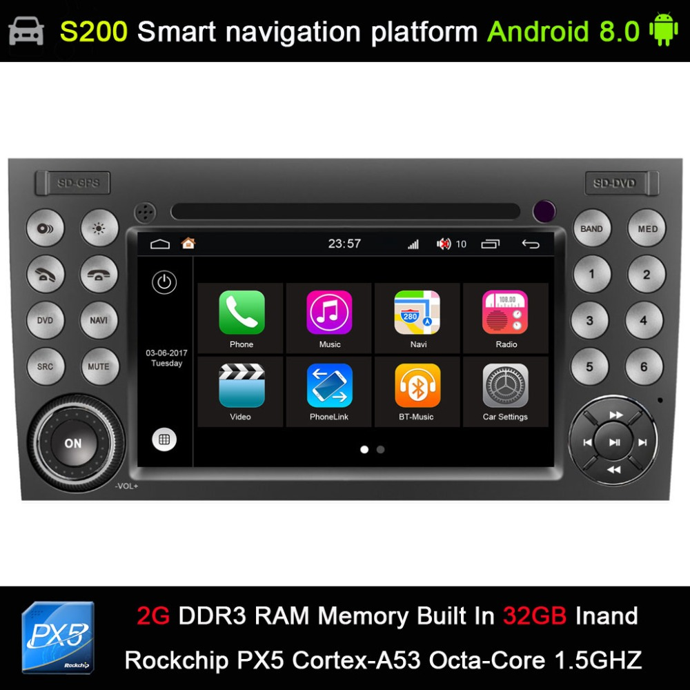 Android 8.0 2G 32 GB Voiture DVD GPS Radio pour Mercedes Benz R171 W171 Classe SLK R171 SLK200 SLK230 SLK280 SLK300 SLK320 SLK350