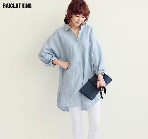 ef916430fa Japanese small fresh summer sun protection clothing loose cotton collar  shirt sleeve linen shirt female shirt Linen Clothing 3-in Blouses   Shirts  from ...