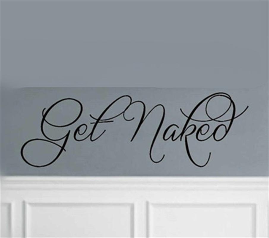 Fesselnd YINGKAI Get Naked Wandtattoo Zitat Badezimmer Wohnzimmer Vinyl Carving  Wandtattoo Für Fenster Dekoration(China (