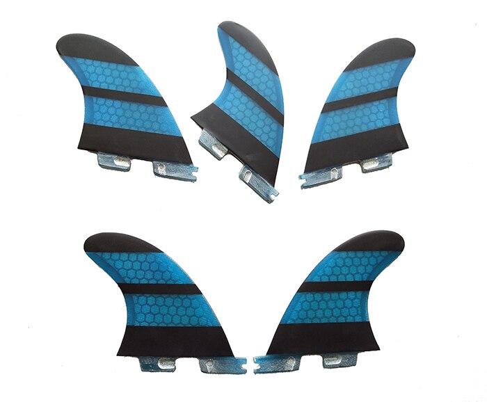 цена на Surf Fins fcs ii K2.1 Quilhas Blue Honeycomb Fins a set of five Surf FCS2 Fins Surfing