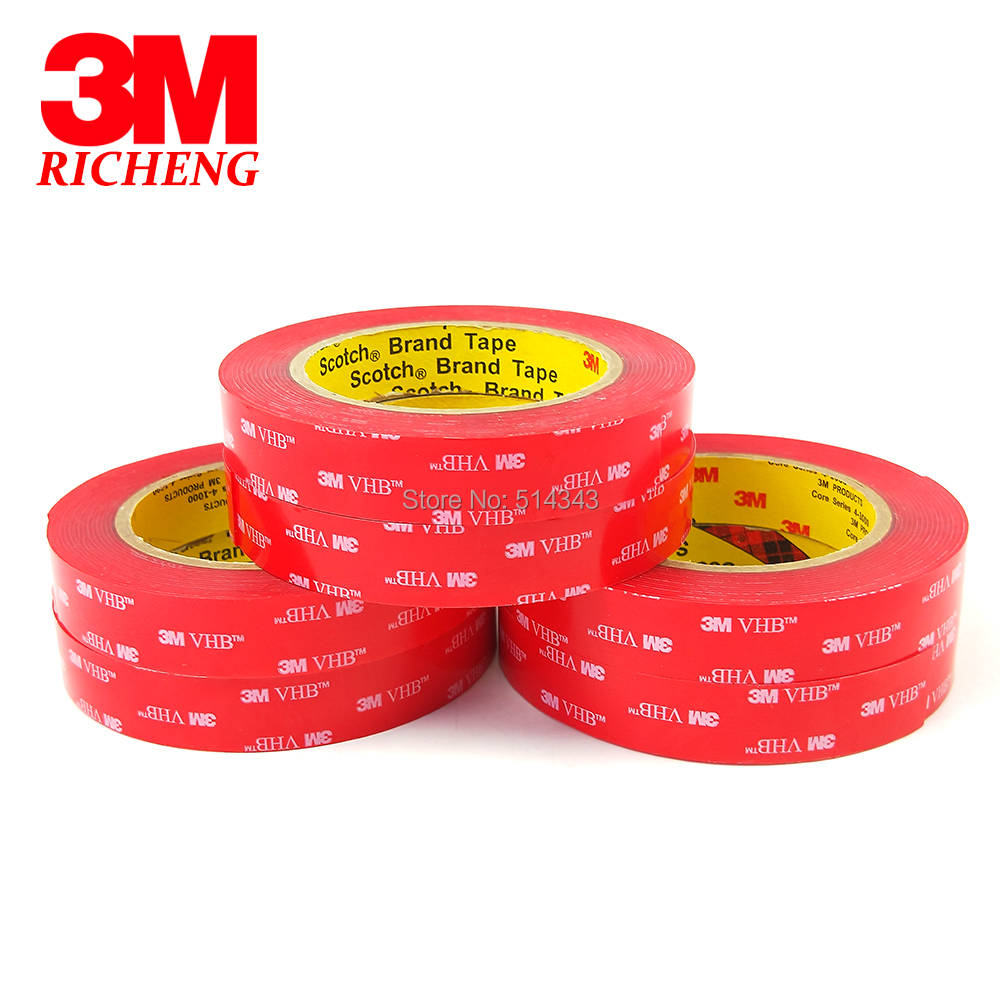 Clear Foam Acrylic Foam Tape 3M VHB 4910 25.4mm*4.6m(1inch*5Yard)