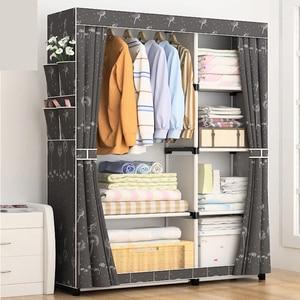 Image 3 - DIY Non   woven พับแบบพกพา Simple ตู้เสื้อผ้าผ้าตู้เสื้อผ้าประกอบกรอบโมเดิร์นตู้เฟอร์นิเจอร์