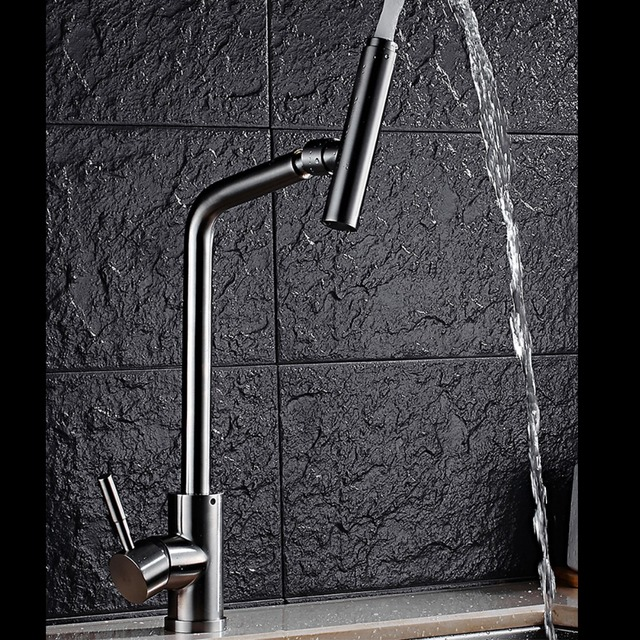 Bestter Long Neck Stainless Steel Kitchen Faucets Single Handles