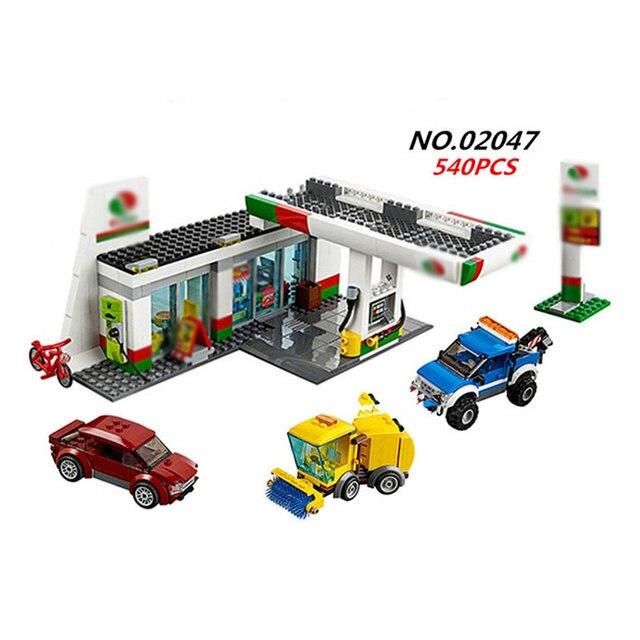 lepin 02047 540PCS city service area gas station lepin component ...