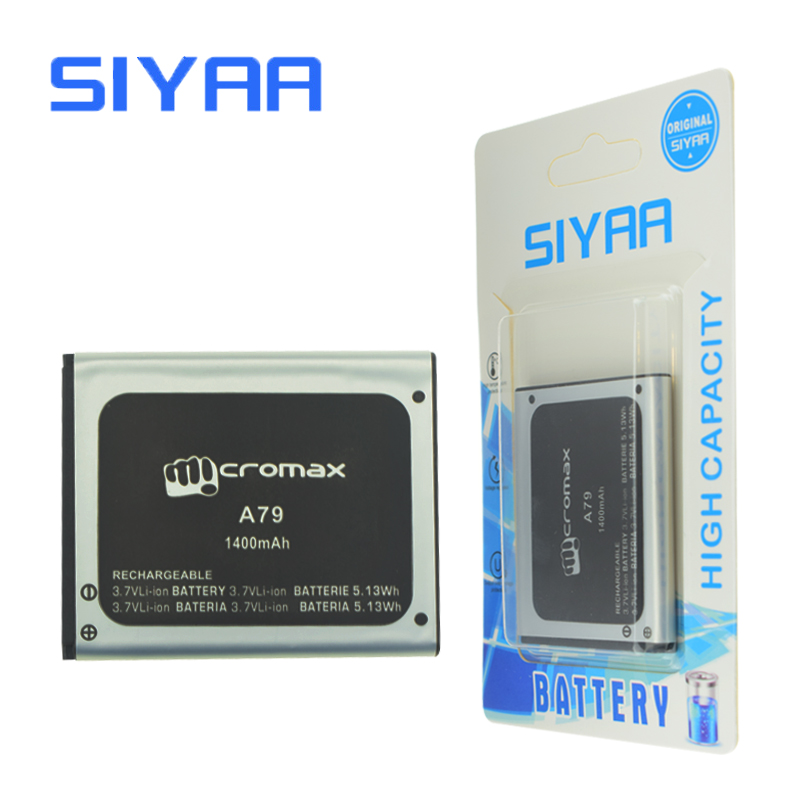 SIYAA Original A79 Battery For Micromax A79 A 79 3.7V High Capacity 1400mAh Replacement Lithium Polymer Batteries