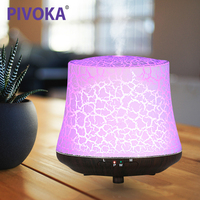 PIVOKA Electric Wood Humificador Grain Air Purifier Humidifier Essential Oil Fragrance Aroma Diffuser LED Night Light