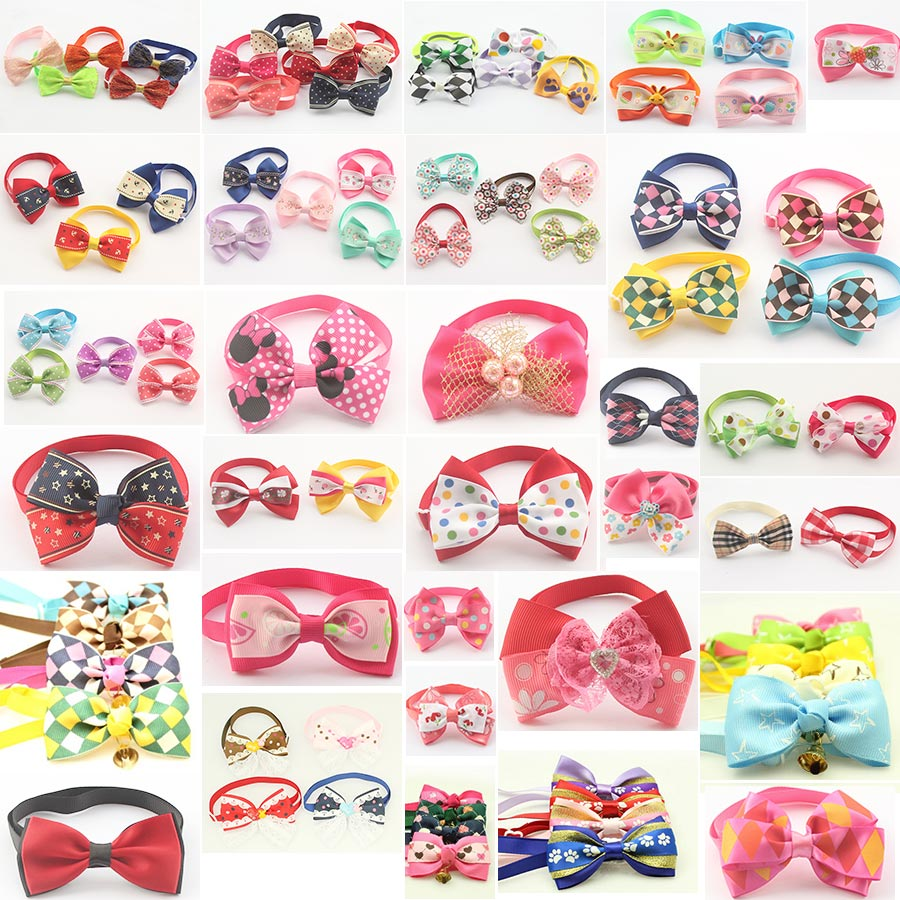 120pcs Mix loaded Handmade Fashion Pet Dog Tie Grooming Bowknot Ties For Dogs 6011008 Pet Accessories