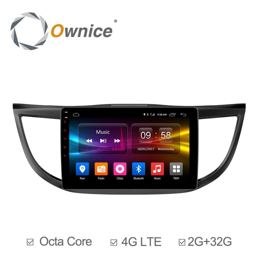 Pour HONDA CRV 2012 2013 2014 2015 2016 ROM 32G Ownice C500 + 10.1 HD Android 6.0 Octa 8 Core Véhicule radio lecteur GPS Navigation
