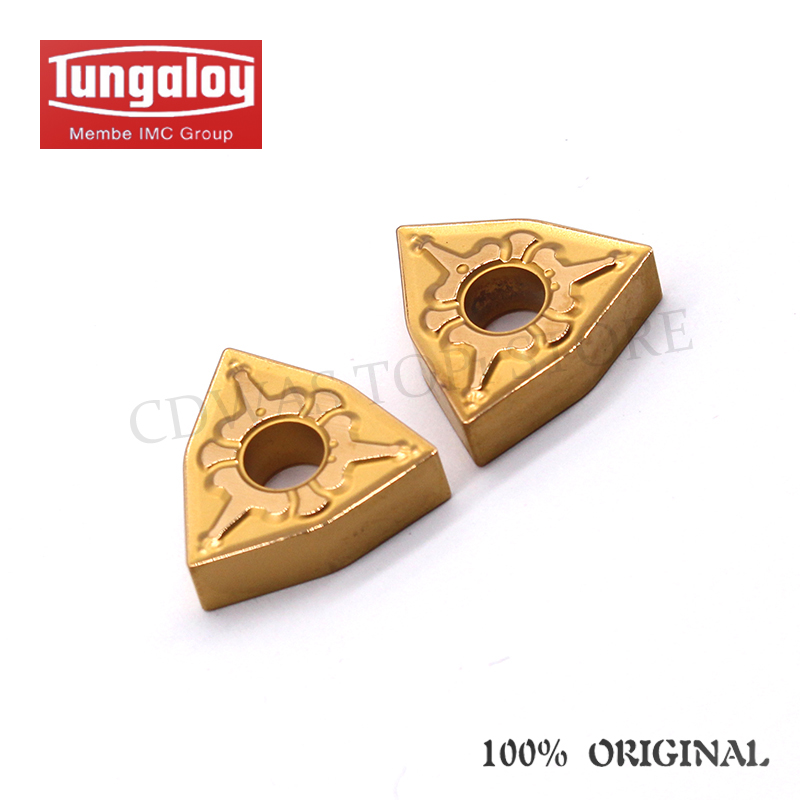 Купить с кэшбэком 10PCS Tungaloy WNMG080408 TM T9025 / 9125 High Quality carbide outer External turning tool CNC lathe tool free shipping
