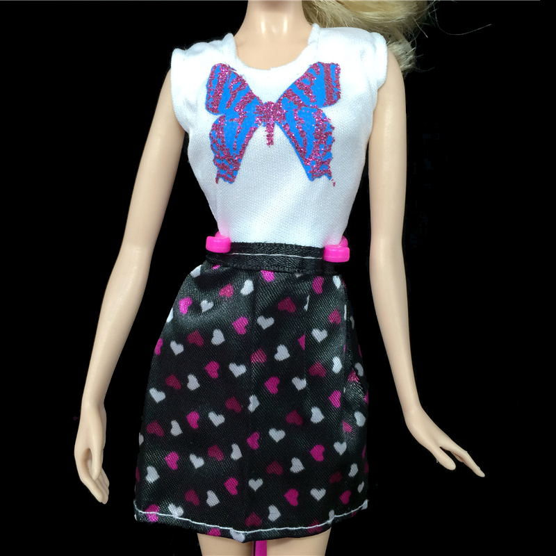 Butterfly One Piece Gown Brief Gown for Barbie Doll Home Vestidos Informal Garments for 1/6 BJD Doll Equipment